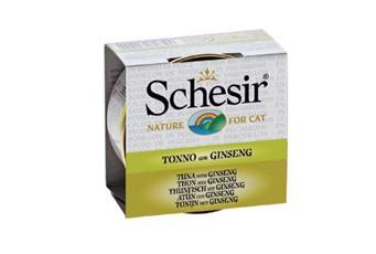 Schesir Cat in Brühe mit Thunfisch und Ginseng 24 x 70 g