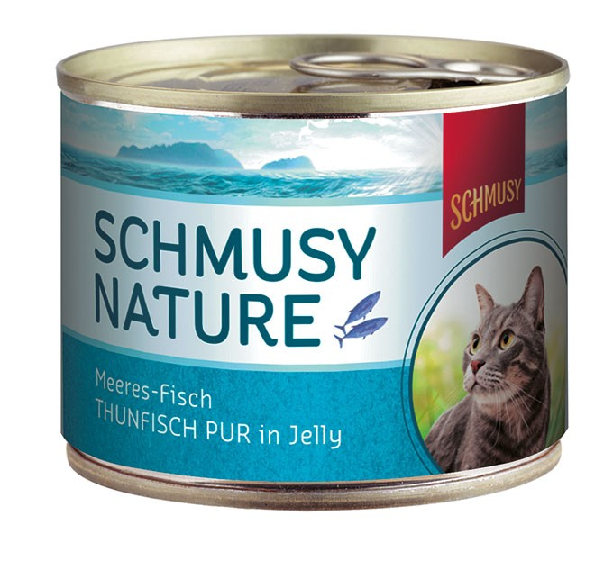 Schmusy Nature Meeresfisch Thunfisch pur in Jelly 12 x 185 g