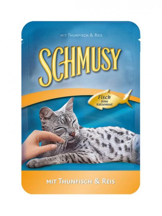Schmusy mit Thunfisch und Reis 24 x 100 g