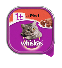 Whiskas Adult 1+ mit Rind 32 x 100 g
