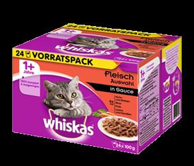 Whiskas Fleischauswahl in Sauce 24-er Multipack 48 x 100 g