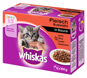 Whiskas Junior Fleischauswahl in Gelee 12-er Multipack 48 x 100 g