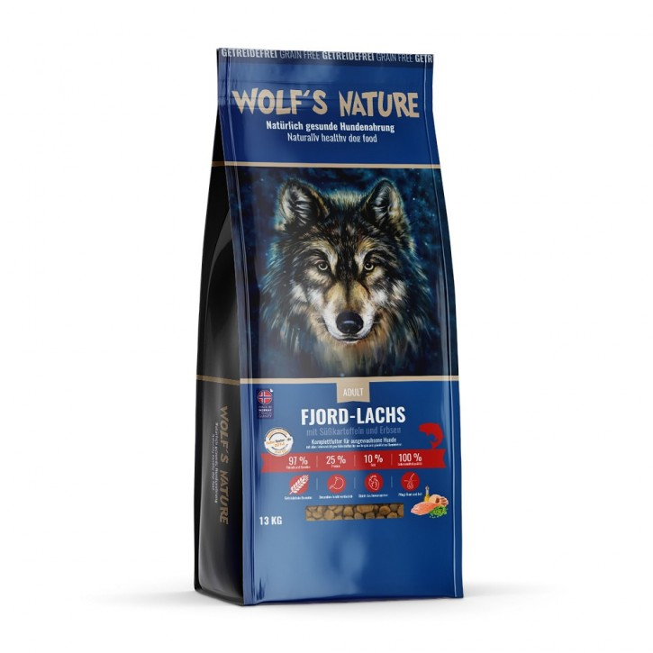Wolfs Nature Adult Lachs 13 kg