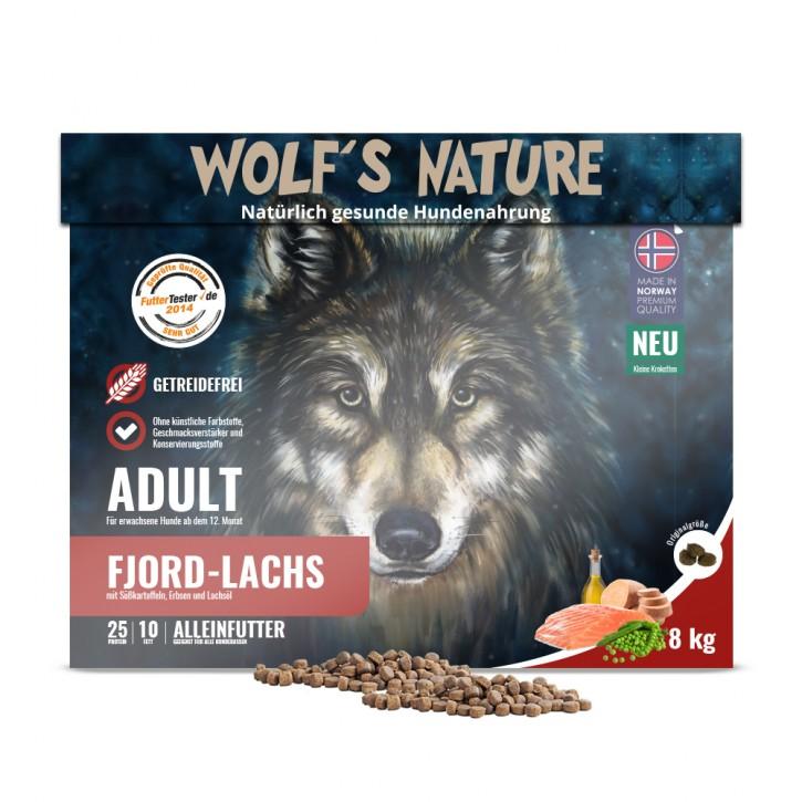 Wolfs Nature Adult Lachs kleine Krokette 8 kg