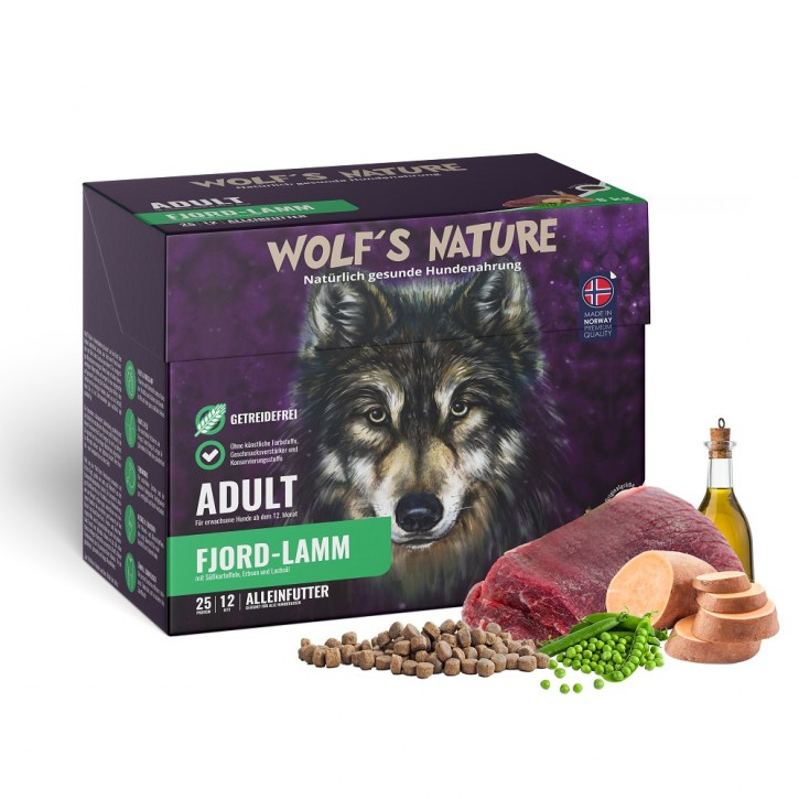 Wolfs Nature Adult Lamm 8 kg