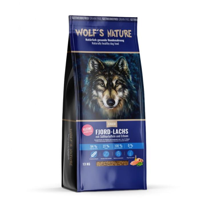 Wolfs Nature Junior mit Lachs 8 kg, 13 kg oder 20 kg