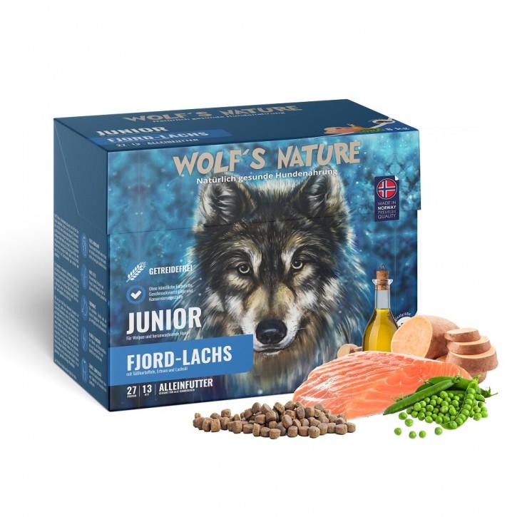 Wolfs Nature Junior mit Lachs 8 kg