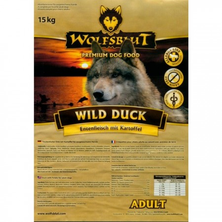 wolfsblut wild duck 15 kg. Black Bedroom Furniture Sets. Home Design Ideas