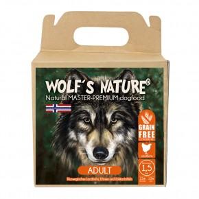Wolfs Nature Adult Landhuhn 1,3 kg, 8 kg oder 15 kg (Staffelpreis)