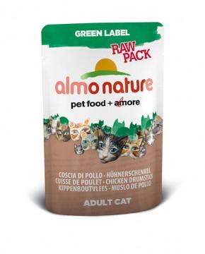 Almo Nature Hühnerschenkel Green Label RAW PACK 24 x 55 g