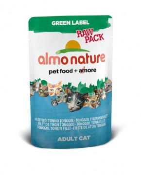 Almo Nature Tonggol Thunfischfilet Green Label RAW PACK 24 x 55 g