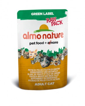 Almo Nature Hühnerbrust und Entenfilet Green Label RAW PACK 24 x 55 g