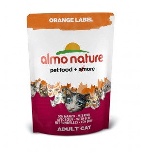 Almo Nature Orange Label Dry mit Rind 105 g oder 750 g