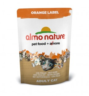 Almo Nature Orange Label Dry mit Huhn 105 g oder 750 g