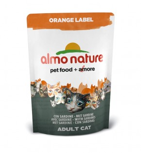 Almo Nature Orange Label Dry mit Sardine 105 g oder 750 g