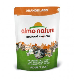 Almo Nature Orange Label Dry mit Truthahn 105 g oder 750 g