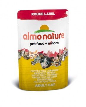 Almo Nature Hühnerfilet und Käse Rouge Label 24 x 55 g