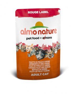 Almo Nature Hühnerfilet und Surimi Rouge Label 24 x 55 g