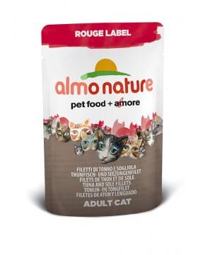 Almo Nature Thunfisch- und Seezungenfilet Rouge Label 24 x 55 g