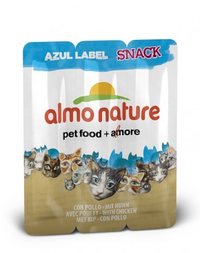 Almo Nature Snack mit Huhn Azul Label 60 x 5 g