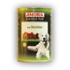 Amora Dog Fleisch Pur mit Rentier 400 g