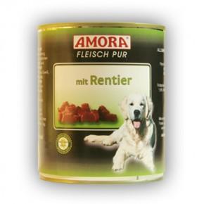 Amora Dog Fleisch Pur mit Rentier 800 g