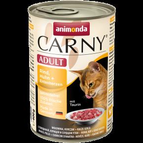 Animonda Cat Carny Adult Rind, Huhn & Entenherzen 400 g