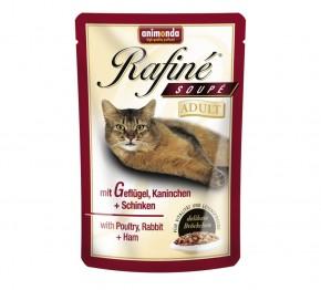 Animonda Cat Rafiné Soupé Adult mit Geflügel, Kaninchen und Schinken 100 g