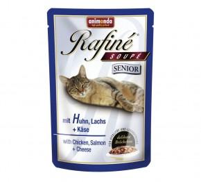 Animonda Cat Rafiné Soupé Senior mit Huhn, Lachs und Käse 100 g