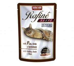 Animonda Cat Rafiné Soupé Senior mit Pute, Ente und Schinken 100 g