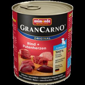 Animonda Dog Gran Carno Original Junior Rind und Putenherz 800 g