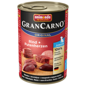 Animonda Dog Gran Carno Original Junior Rind und Putenherz 12 x 400 g