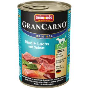 Animonda Dog Gran Carno Original Adult Lachs und Spinat 400 g