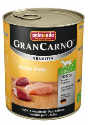 Animonda Dog Gran Carno Sensitiv Adult Reine Pute 6 x 800 g