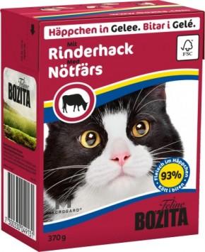 Bozita Cat Häppchen in Gelee mit Rinderhack 16 x 370 g