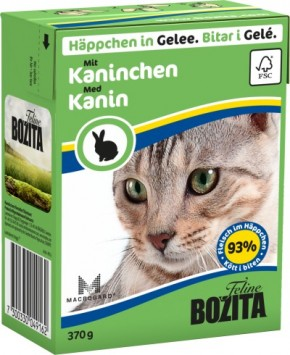 Bozita Cat Häppchen in Gelee mit Kaninchen 16 x 370 g