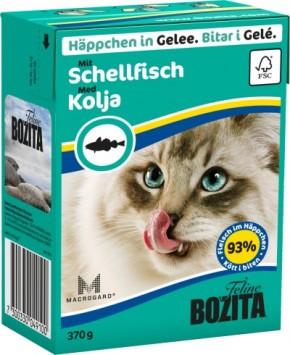 Bozita Cat Häppchen in Gelee mit Schellfisch 16 x 370 g