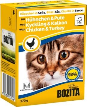Bozita Cat Häppchen in Soße mit Hühnchen und Pute 16 x 370 g