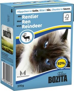 Bozita Cat Häppchen in Soße mit Rentier 16 x 370 g