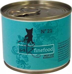 Catz finefood No. 21 Wild & Rotbarsch 85 g, 200 g, 400 g oder 800 g
