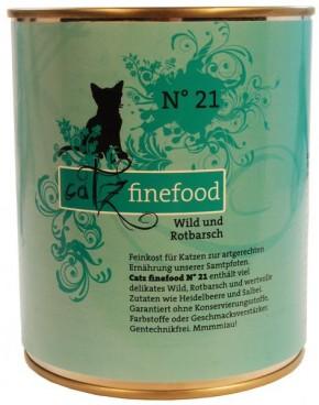 Catz finefood No. 21 Wild & Rotbarsch 6 x 800 g