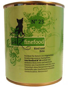 Catz finefood No. 23 Rind & Ente 6 x 800 g