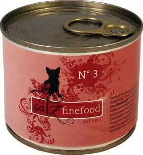 Catz finefood No. 3 Geflügel 85 g, 200 g, 400 g oder 800 g