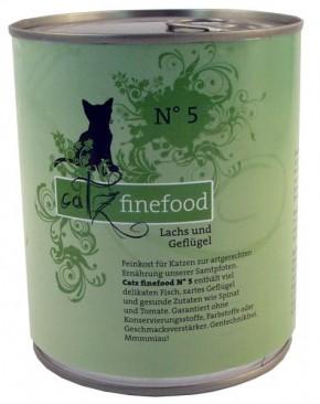 Catz finefood No. 5 Lachs & Geflügel 6 x 800 g