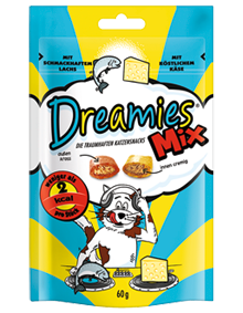 Dreamies Cat Mix mit Lachs & Käse 6 x 60 g
