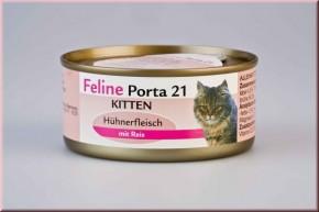 Feline Porta 21 Kitten mit Huhn und Reis 90 g oder 156 g