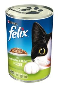 Felix Leckerbissen in Soße mit Kaninchen & Huhn 24 x 400 g