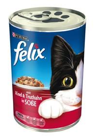 Felix Leckerbissen in Soße mit Rind & Truthahn 24 x 400 g