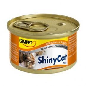 Gimpet Cat ShinyCat Hühnchen und Papaya 24 x 70 g