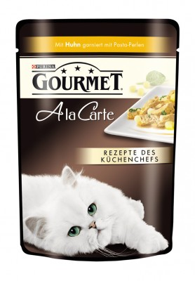 Gourmet A la Carte mit Huhn garniert mit Pasta Perlen Portionsbeutel 24 x 85 g